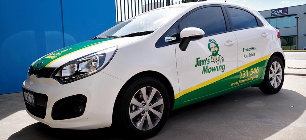 Jims Mowing Wrap Signage
