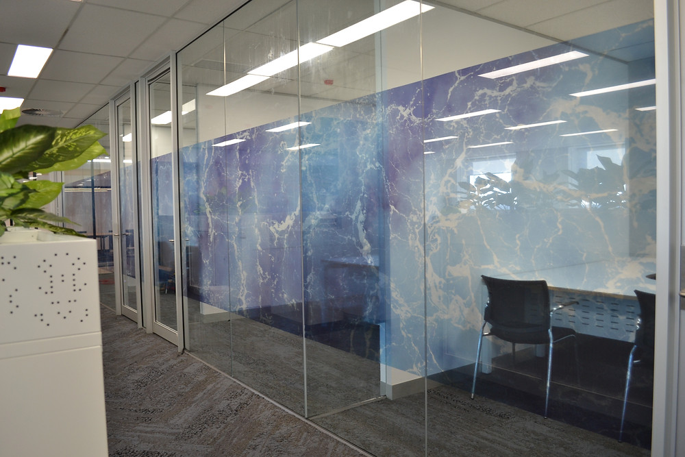 Digtall Printed Optical Clear Glazing Fitout Perth