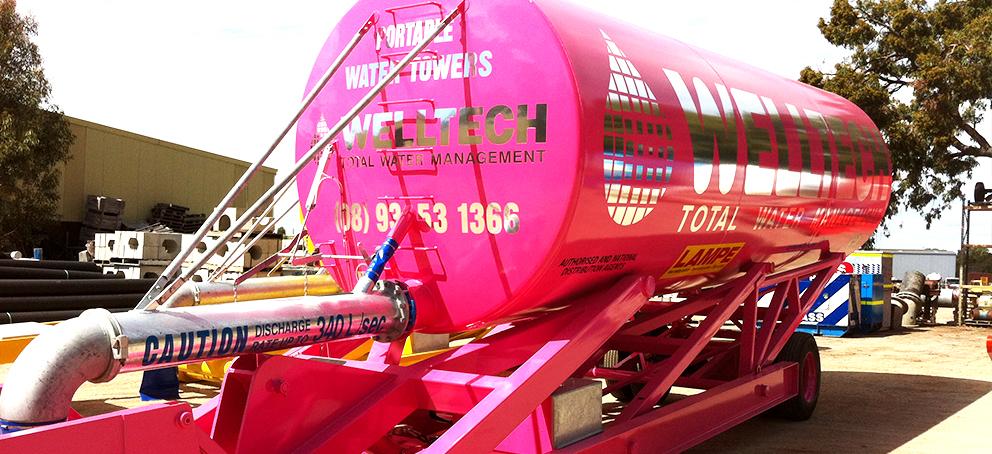 Welltech Tanker Pink Signage