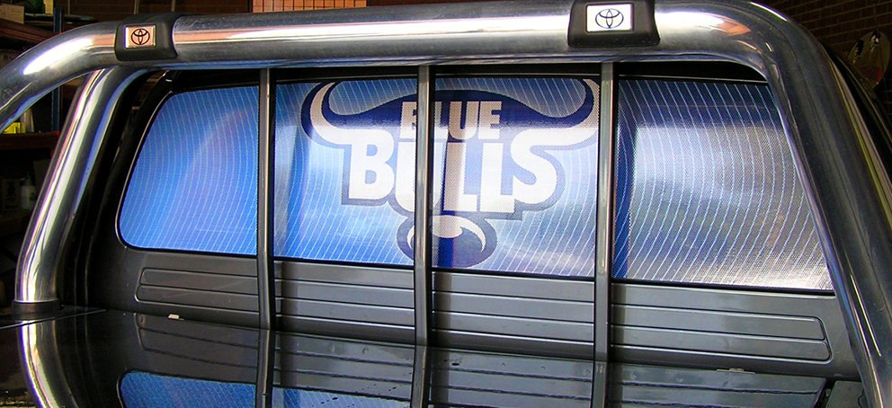 Blue Bulls One Way Vision Signage