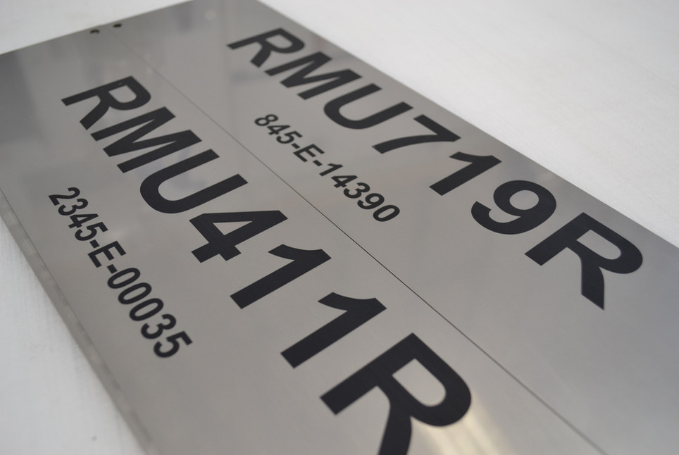 Engraved Laser Plates Plaques Serial Number Perth