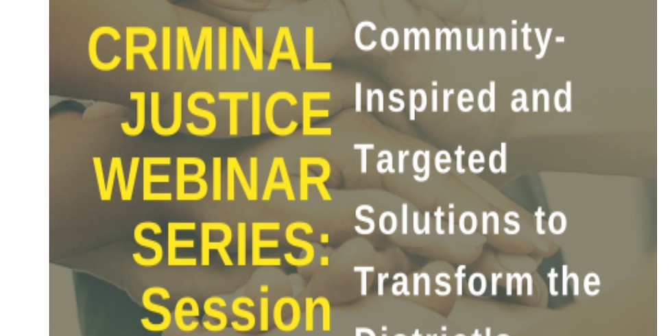 Criminal Justice  Series One hosted by CJCC