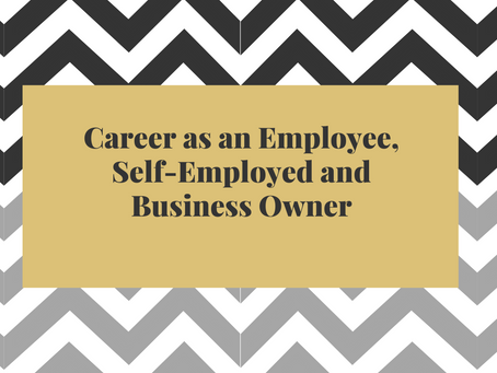 Career as a Employee, Self-Employed and Business Owner