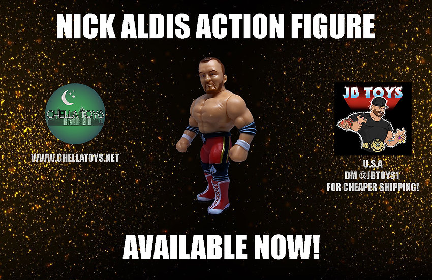 LIMITED TO 2000!! OFFICIAL NICK ALDIS ACTION FIGURE AVAILABLE NOW!