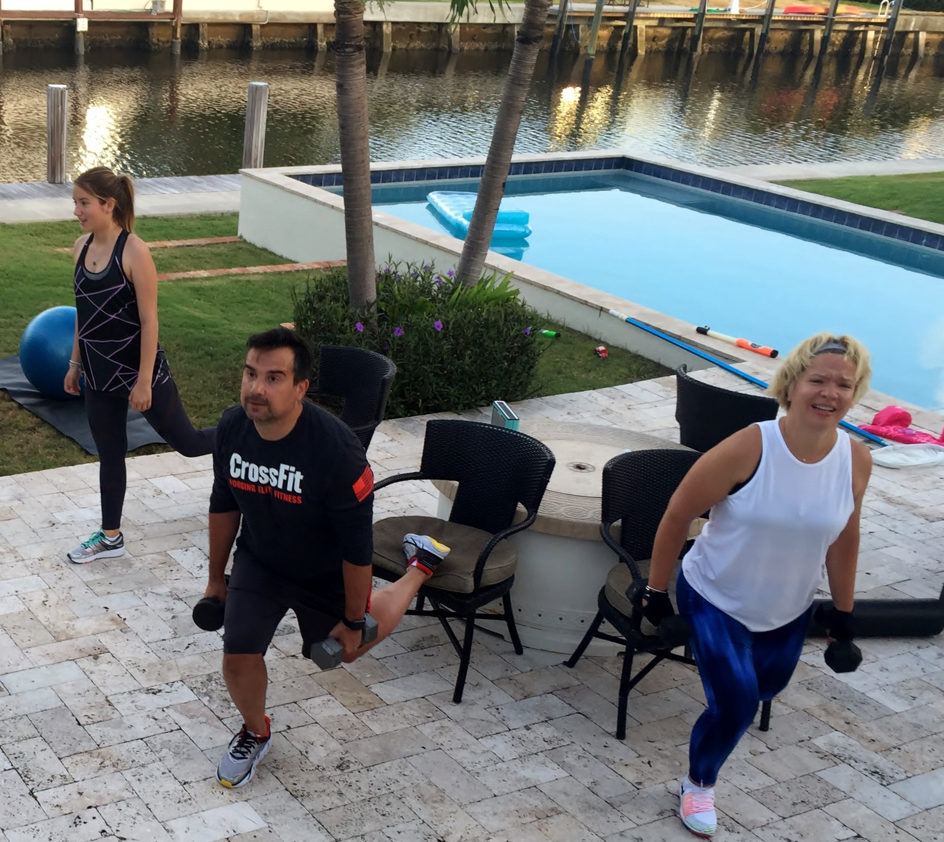 Family personal training session