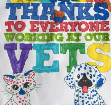 Young owners of pets send their thanks