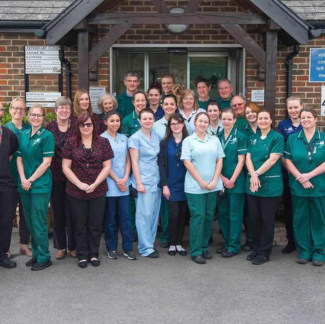 Newnham Court Veterinary Hospital Staff.