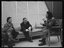 Sartre y De Beauvoir  con el Che