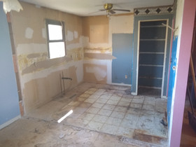 light demolition kitchen tear-down