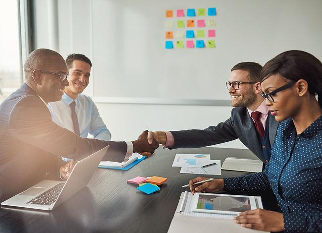 multiracial-team-concluding-a-business-a