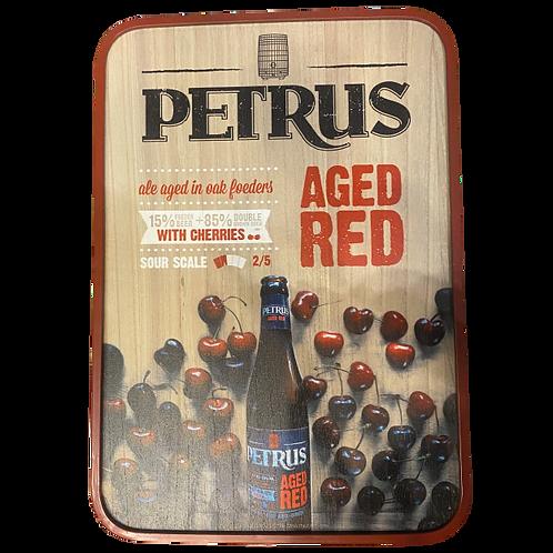 Placa decorativa Petrus Red
