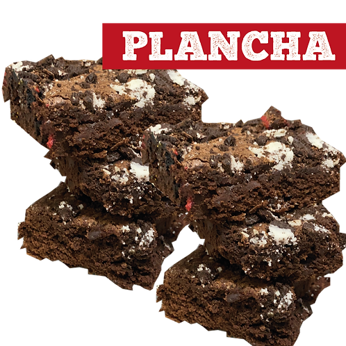 Plancha brownie Oreo