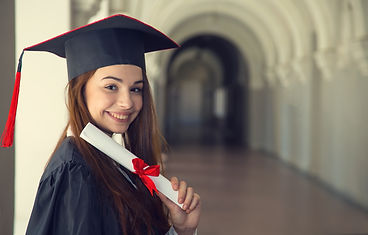 Happy woman on her graduation day University.jpg Education and people.jpg