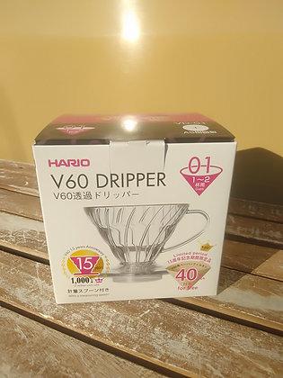 【ハリオ】V60透過ドリッパー01クリア
