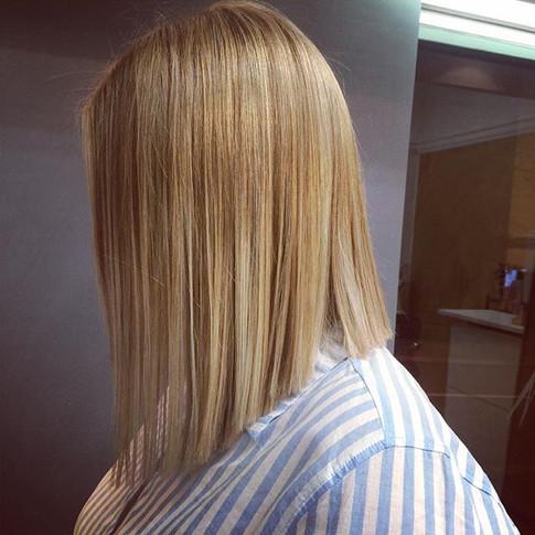 #longbob #highlights #blondehair