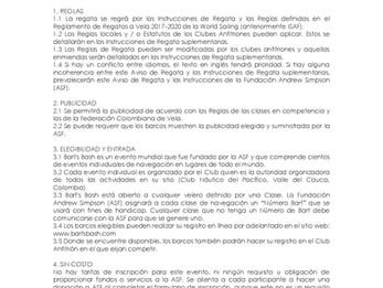 AVISO DE REGATA - BART´S BASH - REGATA ALBATROS