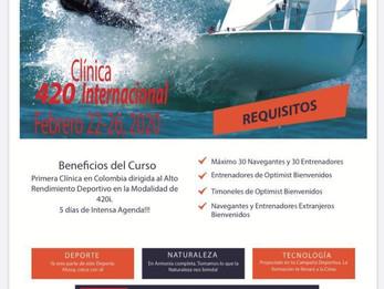 Clínica para Entrenadores y Deportistas de la Clase 420 Internacional. Febrero 22 al 26 de 2020. Bie