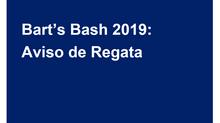 Aviso de Regata del Bart´s Bash 2019