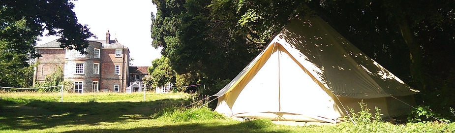 one of our bell tents on the lawn