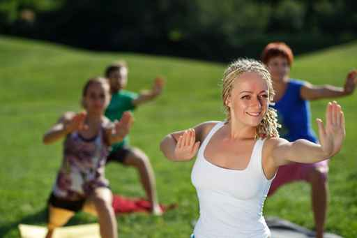yoga for large groups