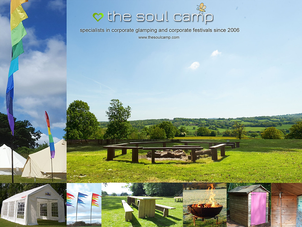 A collage of the new Strawberry Field Camps with examples of what each camp will feature.