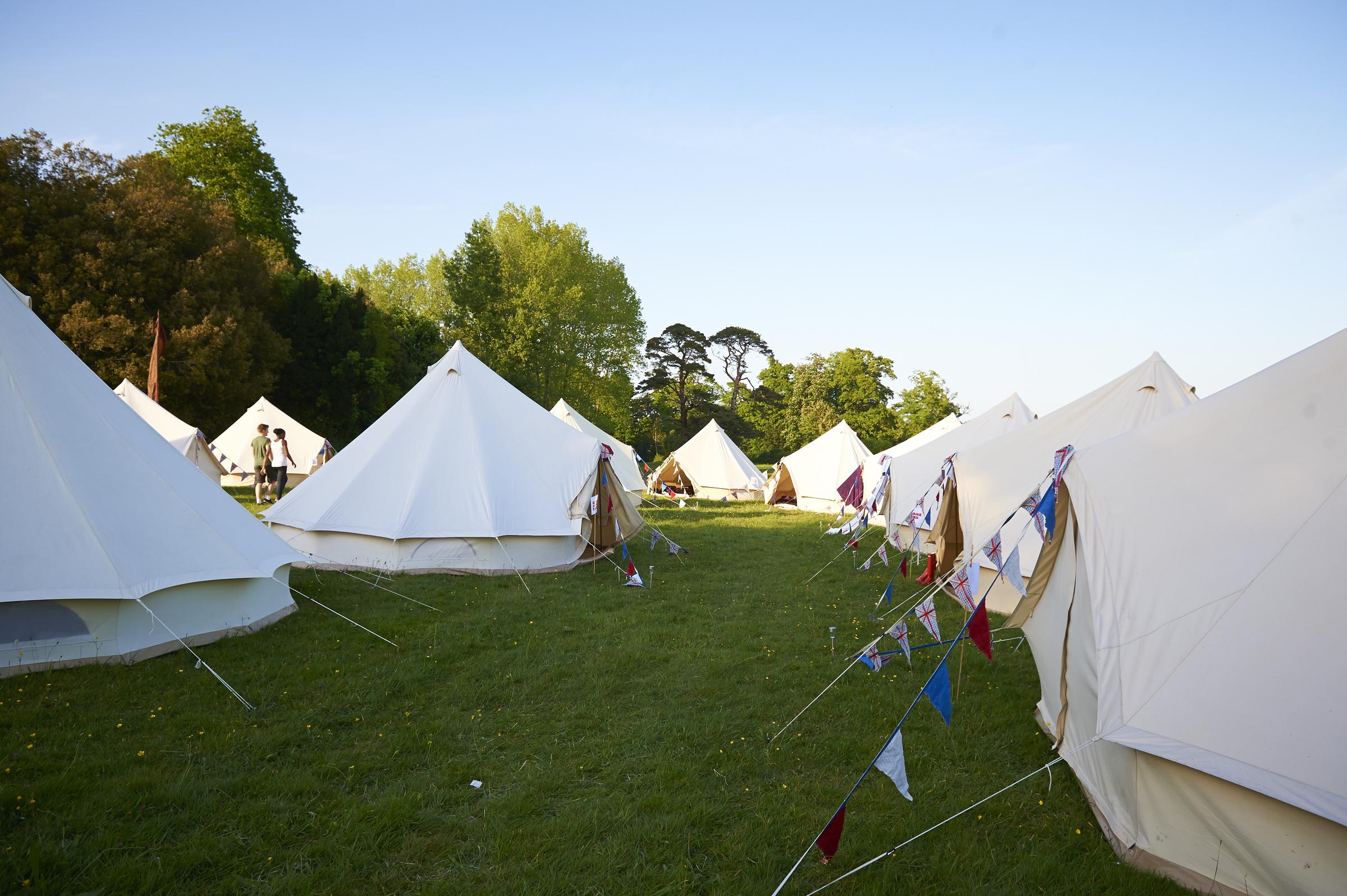 a bell tent 'village'