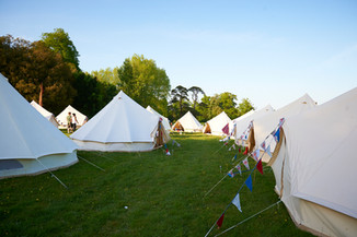 a glamping 'village'