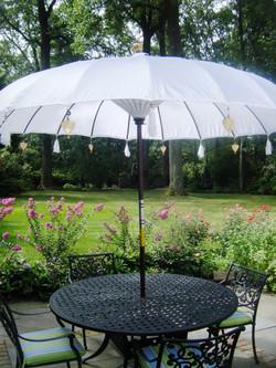 White Balinese Umbrellas