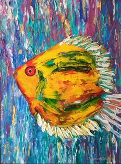 """Nemo"" Original oil painting on canvas 35x45cm."
