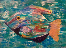"""King Fish"" Original oil painting on canvas 35x45cm."