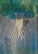 """Jelly Fish"" 50x70 cm.Original art, acrylic mixed media on plexpanel."
