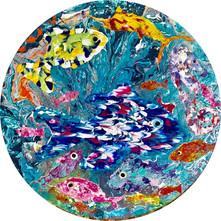 ''Vella Bella'' Original painting 60cm. dia.