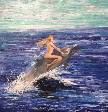"""Joy Ride"" Original oil painting on canvas 60x60cm."