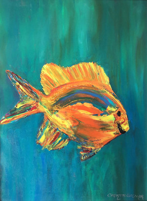 """Cutie"" Original oil painting on canvas 35x45cm."