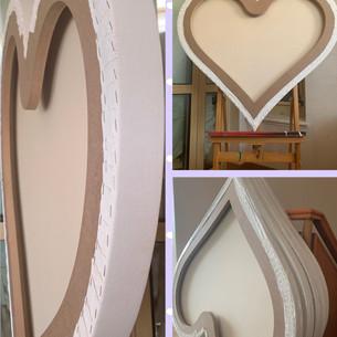 custom made heart shape canvas 100x100x4