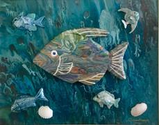 """Sushi"" Original art, acrylic on canvas 30x40cm."