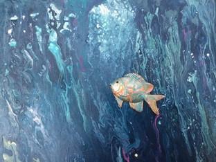 """Sweety"" Original art, acrylic on canvas 30x40cm."