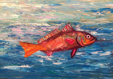 """""""Amber"""" Original oil painting on canvas 35x45 cm."""
