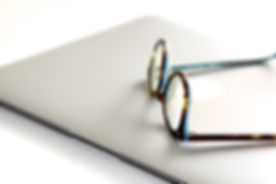 Canva - Black and Blue Framed Eyeglasses