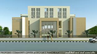 Community Center at Sector 7, Panchkula   Public Building, MC Panchkula