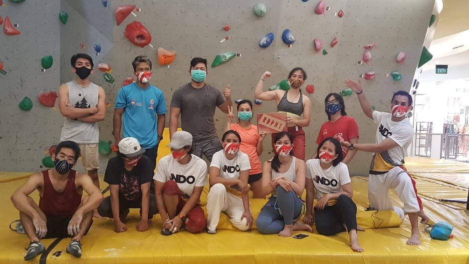 We came, we climbed, we won cool t-shirts!