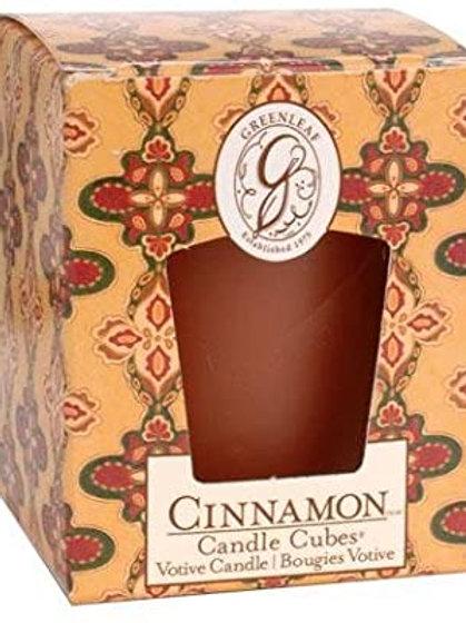 Greenleaf Cinnamon Boxed Votive Candle