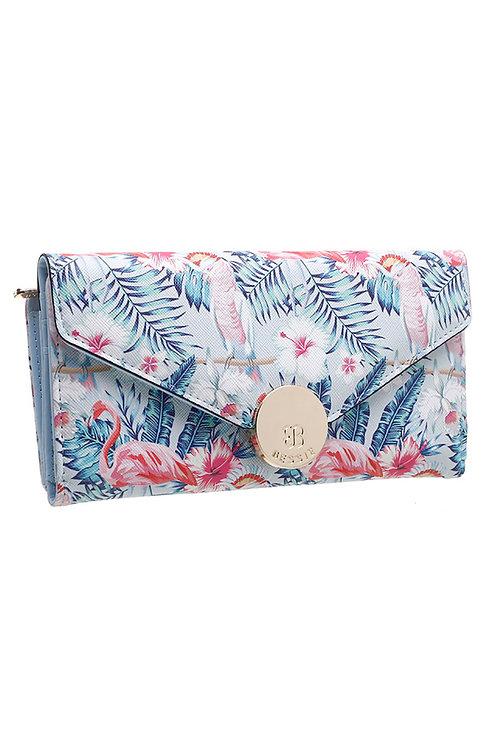 Bessie Floral Flap-Over Purse