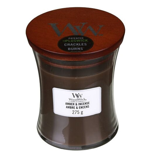 WoodWick Amber & Incense Medium Hourglass Candle