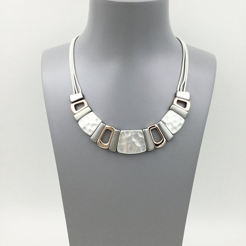 Gold and Silver Cubed Necklace