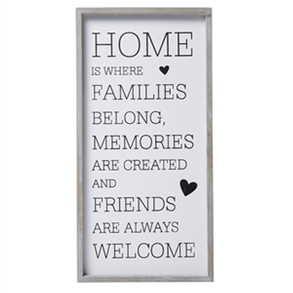 """Framed """"Home is Where.."""" Sign"""