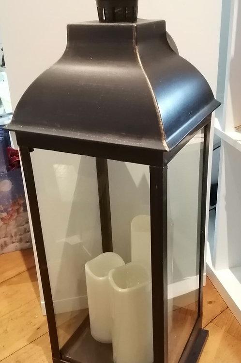 Large Black Metal Lantern
