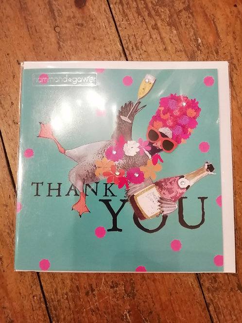 """""""Thank You"""" Duck Card"""