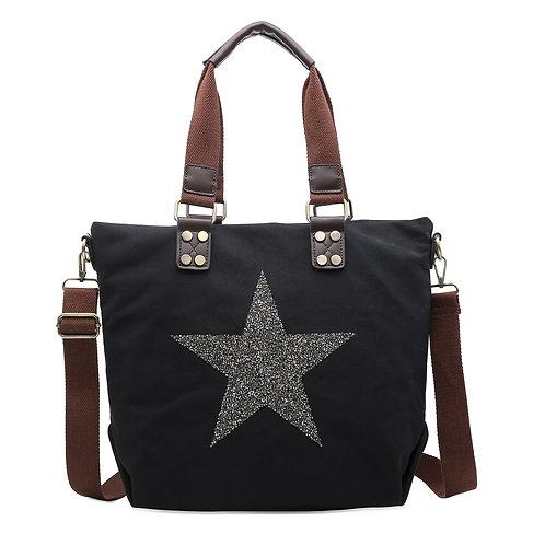 Black Star Bag with Strap
