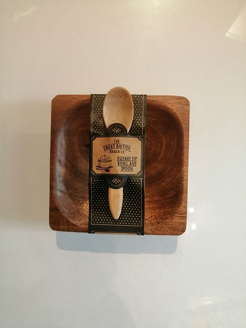 Square Dip Bowl and Spoon